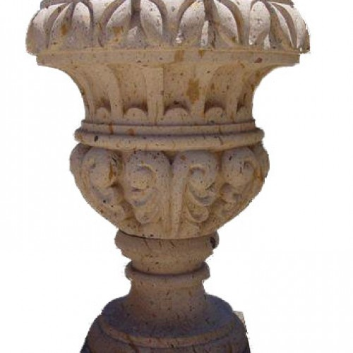 Carved Stone Urn
