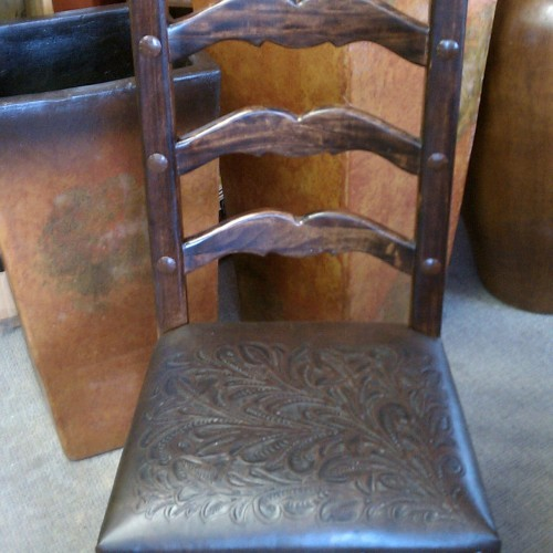 Tooled Leather Chair