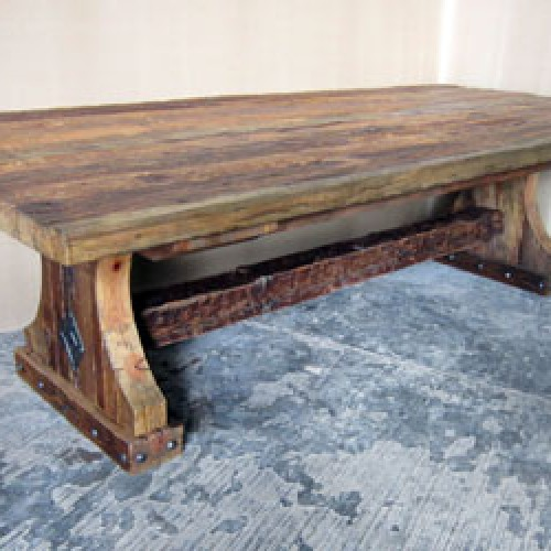 Upcycled Wood Dining Table