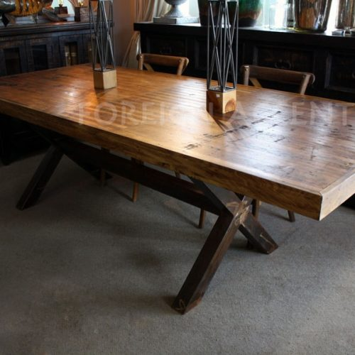 vintage bowling alley lane table