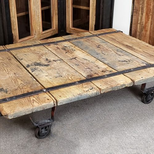 factory cart coffee table 60 x 43
