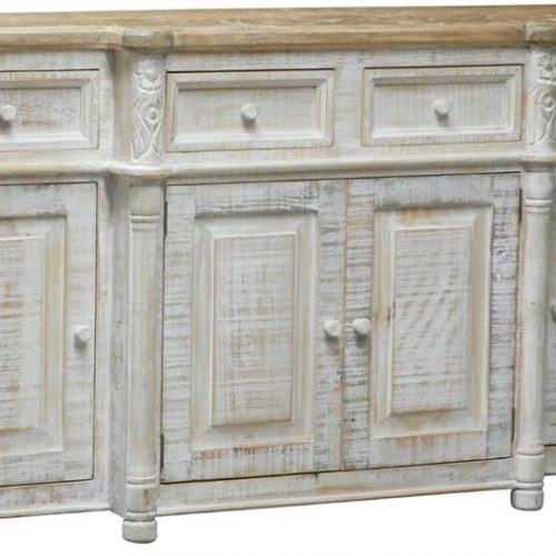 Flowers Console white finish