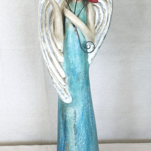 angel with flowers front