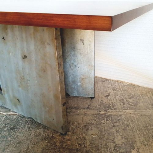 Trestle Dining Table close up legs